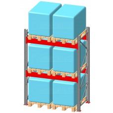 Стеллаж паллетный фронтальный СП 4500(Н)х1800х1100х100х1,5 мм ( на ярус 2 европаллетыпо 1000 кг)