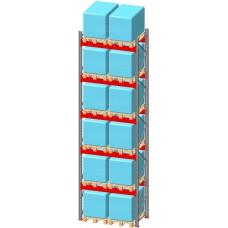 Стеллаж паллетный фронтальный СП 10500(Н)х1800х1100х120х2,0 мм ( на ярус 2 европаллетыпо 1000 кг)