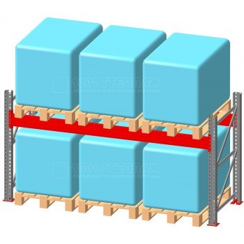 Стеллаж паллетный фронтальный СП 2000(Н)х2700х1100х100х1,5 мм ( на ярус 3 европаллетыпо 600 кг)
