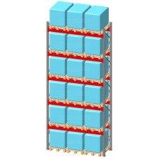 Стеллаж паллетный фронтальный СП 11500(Н)х2700х1100х120х2,0 мм ( на ярус 3 европаллетыпо 1000 кг)