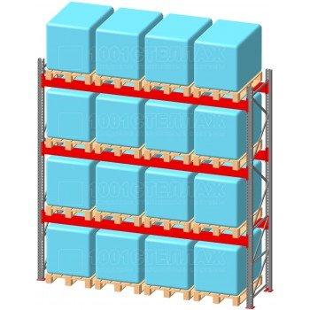 Стеллаж паллетный фронтальный СП 3500(Н)х3600х1100х90х1,5 мм ( на ярус 4 европаллетыпо 800 кг)