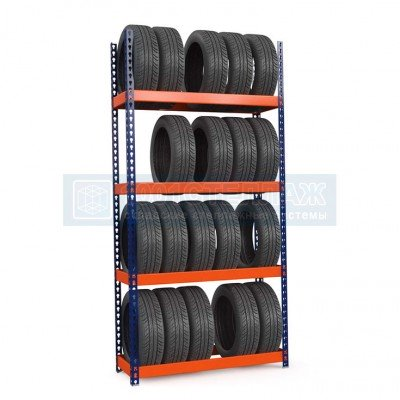 Стеллаж для шин Профи-Т 2500х1240х500 - 4 яруса хранения шин