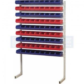 Односторонний стеллаж для метизов 1500х750 с ящиками серии 5001