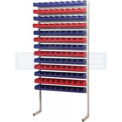 Односторонний стеллаж для метизов  2000х750 с ящиками серии 5001