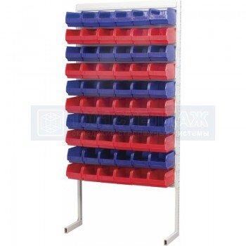 Односторонний стеллаж для метизов 2000х750 с ящиками серии 5002