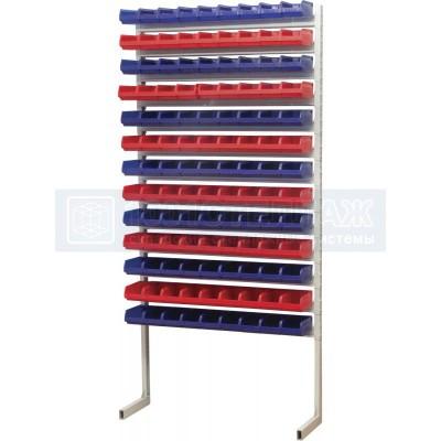 Односторонний стеллаж для метизов 2000х932 с ящиками серии 5001