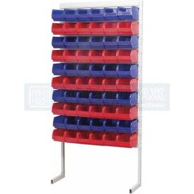 Односторонний стеллаж для метизов 2000х932 с ящиками серии 5002