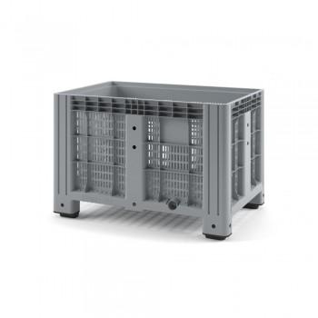 Пластиковый контейнер IBOX 1200х800х800 (перфорированный, на ножках)