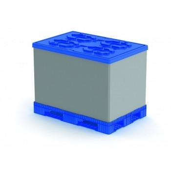 Разборный пластиковый облегчённый контейнер Polybox 1210х810