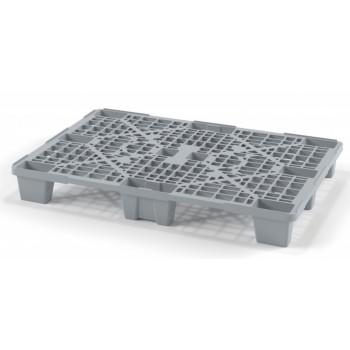 Лёгкий перфорированный пластиковый поддон на ножках 800х1200х140 мм, серый