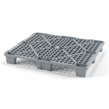 Легкий перфорированный пластиковый поддон на ножках 1000х1200х135 мм, серый