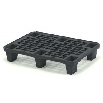 Лёгкий перфорированный пластиковый поддон на ножках 600х800х140 мм, чёрный