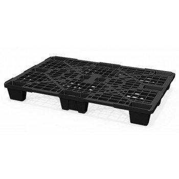 Лёгкий перфорированный пластиковый поддон на ножках 800х1200х140 мм, чёрный