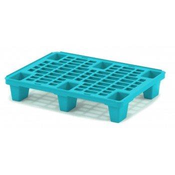 Лёгкий перфорированный пластиковый поддон на ножках 600х800х140 мм, голубой
