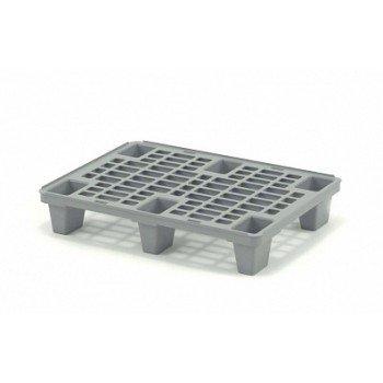 Лёгкий перфорированный пластиковый поддон на ножках 600х800х140 мм, серый