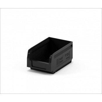 Складской лоток 165х100х75 мм чёрный