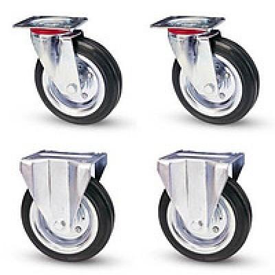 Комплект колёс Ø125 мм (гр-ть 300 кг, комплект два поворотных и два неповоротных колеса)