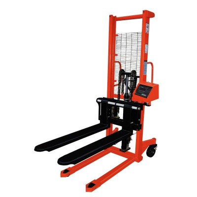 Ручной гидравлический штабелер с весами OXLIFT HS1615-Scale (г/п 1500 кг, в/п 1.6 м)