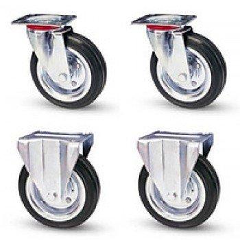 Комплект колёс Ø200 мм (гр-ть 555 кг,комплект два поворотных и два неповоротных колеса)